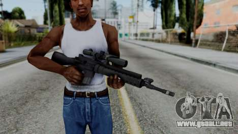Arma AA MK12 SPR para GTA San Andreas tercera pantalla