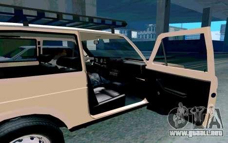 VAZ Niva para visión interna GTA San Andreas