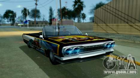 Savanna New PJ para GTA San Andreas vista posterior izquierda