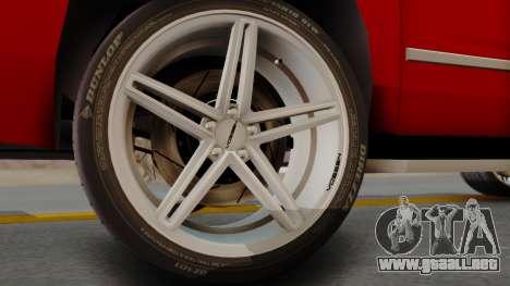 Chevrolet Suburban 2015 LTZ para GTA San Andreas vista posterior izquierda