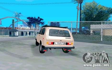 VAZ Niva para GTA San Andreas vista posterior izquierda