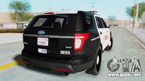 Ford Explorer Police para GTA San Andreas left