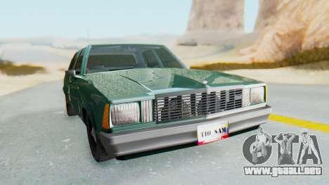 Chevrolet Malibu 1981 Twin Turbo para la visión correcta GTA San Andreas