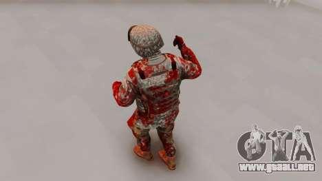 Zombie Military Skin para GTA San Andreas tercera pantalla