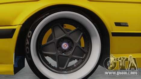 BMW M5 E34 para GTA San Andreas vista hacia atrás