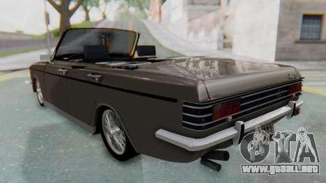 Peykan 80 Spyder para GTA San Andreas vista posterior izquierda