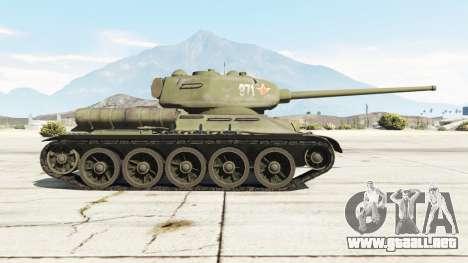 GTA 5 T-34-85 vista lateral izquierda
