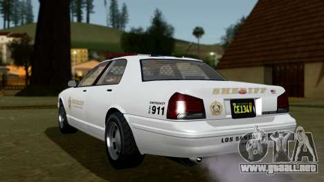 GTA 5 Vapid Stanier II Sheriff Cruiser IVF para GTA San Andreas left