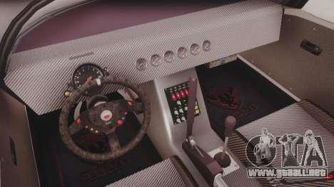 GTA 5 Bravado Banshee 900R Carbon IVF para GTA San Andreas vista hacia atrás