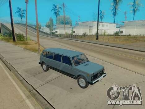 ВАЗ 2131 7-puerta [HQ Version] para visión interna GTA San Andreas