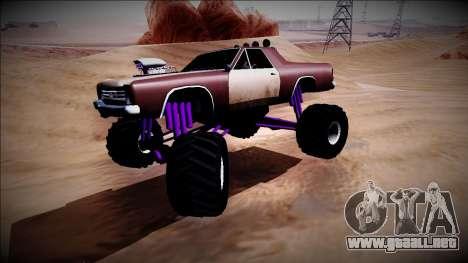 Picador Monster Truck para visión interna GTA San Andreas