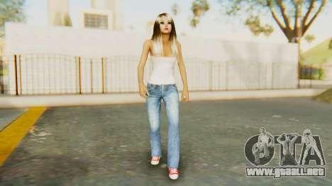 Blonde White Top para GTA San Andreas segunda pantalla