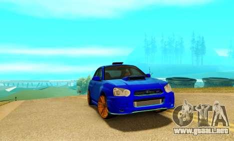 Subaru Impreza WRX STI Spec-C para GTA San Andreas left