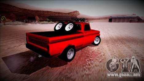 Chevrolet C10 Rusty Rebel para la visión correcta GTA San Andreas