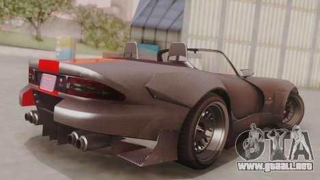 GTA 5 Bravado Banshee 900R Carbon IVF para GTA San Andreas left