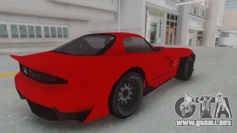 GTA 5 Bravado Banshee 900R Stock para GTA San Andreas vista posterior izquierda