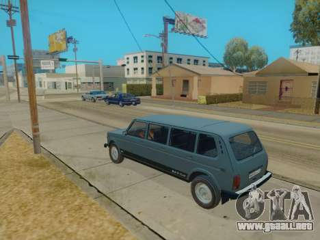 ВАЗ 2131 7-puerta [HQ Version] para GTA San Andreas vista posterior izquierda
