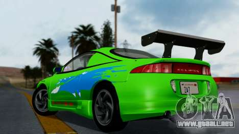 Mitsubishi Eclipse GST 1995 para vista inferior GTA San Andreas