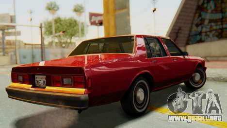 Chevrolet Impala 1984 para GTA San Andreas left