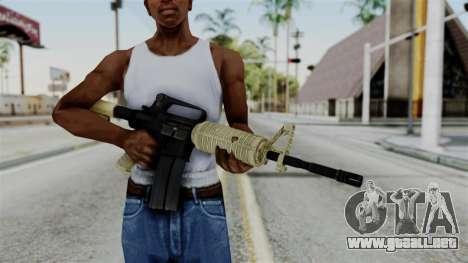 M16 A2 Carbine M727 v3 para GTA San Andreas tercera pantalla