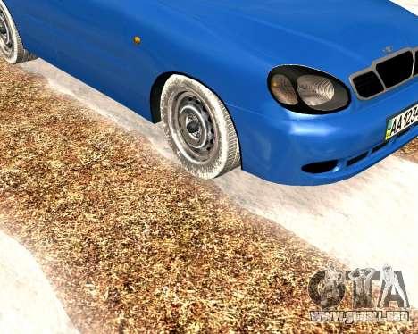 Daewoo Lanos 2001 Winter para GTA San Andreas left