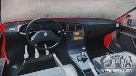Peugeot Pars Spayder Sport para la visión correcta GTA San Andreas