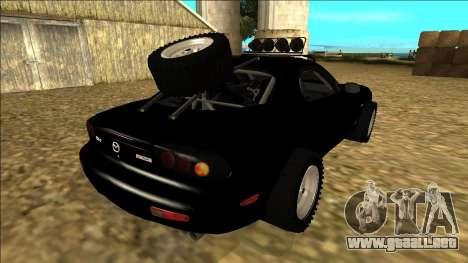 Mazda RX-7 Rusty Rebel para GTA San Andreas vista hacia atrás