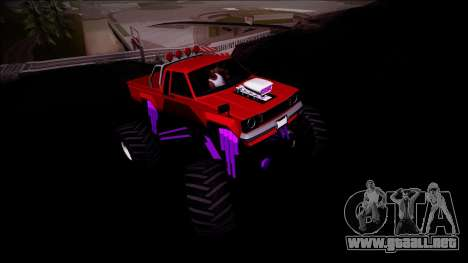 GTA 5 Karin Rebel Monster Truck para visión interna GTA San Andreas