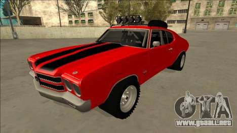 Chevrolet Chevelle Rusty Rebel para vista lateral GTA San Andreas