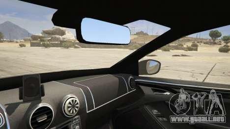 GTA 5 2014 Police Skoda Octavia VRS Hatchback vista lateral trasera derecha
