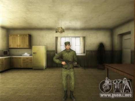 El Ordinario Ejército Moderno De Rusia para GTA San Andreas tercera pantalla