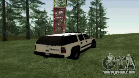 Chevrolet Suburban Offroad Final Version para GTA San Andreas vista posterior izquierda