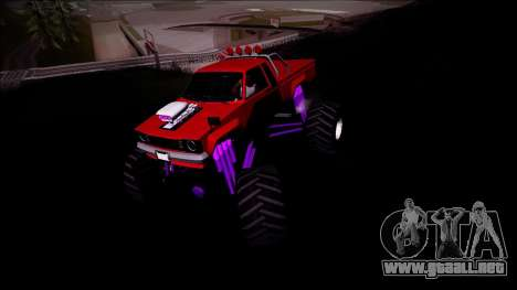 GTA 5 Karin Rebel Monster Truck para GTA San Andreas vista hacia atrás