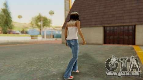 Blonde White Top para GTA San Andreas tercera pantalla