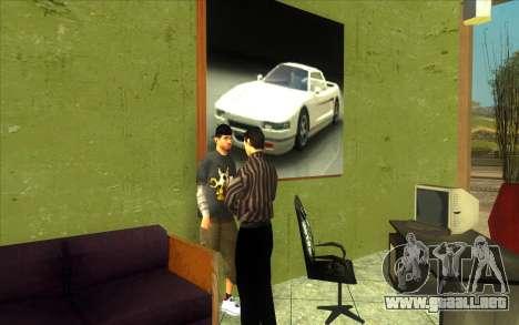 La reactivación de la concesionaria de automóvil para GTA San Andreas quinta pantalla