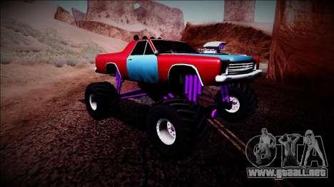 Picador Monster Truck para GTA San Andreas vista hacia atrás