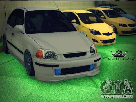 Honda Civic by Snebes para visión interna GTA San Andreas
