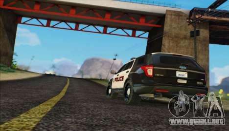 Ford Explorer Police para GTA San Andreas vista posterior izquierda