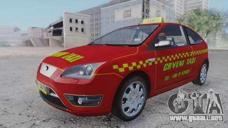 Ford Focus ST Taxi para la visión correcta GTA San Andreas