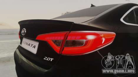 Hyundai Sonata Turbo 2.0 2015 V1.0 Final para vista lateral GTA San Andreas