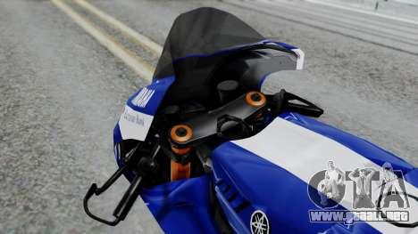 Yamaha YZR-M1 VR46 para la visión correcta GTA San Andreas
