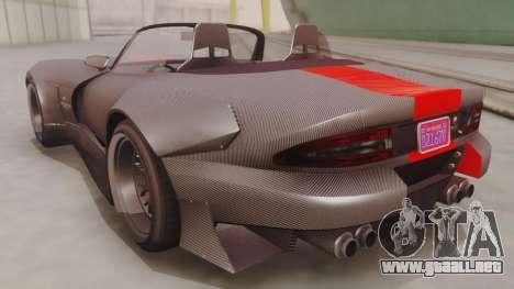 GTA 5 Bravado Banshee 900R Carbon IVF para GTA San Andreas vista posterior izquierda