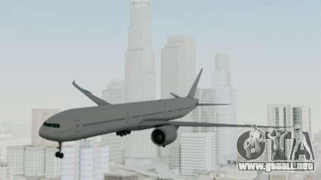 Boeing 777-9x Paintkit para GTA San Andreas vista posterior izquierda
