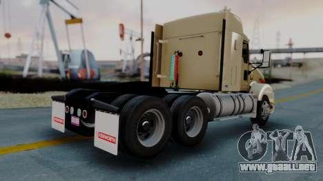 Kenworth T800 38s Flat Top para GTA San Andreas vista posterior izquierda