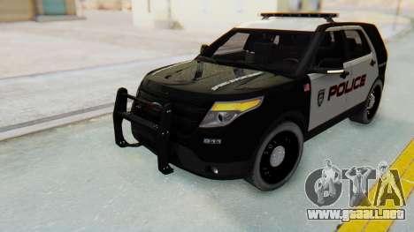 Ford Explorer Police para la visión correcta GTA San Andreas