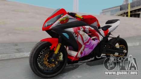 Kawasaki Ninja FI Custom Rias Gremory Itasha para la visión correcta GTA San Andreas