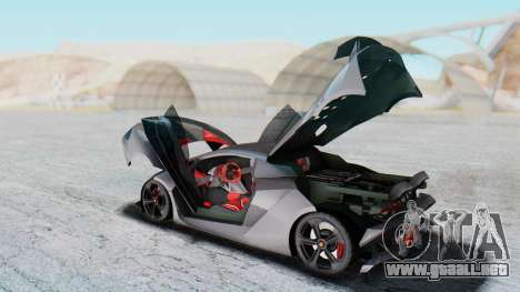 Lamborghini Sesto Elemento 2010 para visión interna GTA San Andreas