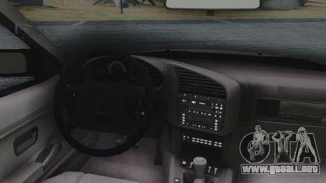 BMW 3-er E36 para GTA San Andreas vista hacia atrás