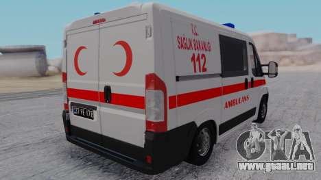 Fiat Ducato Turkish Ambulance para GTA San Andreas left