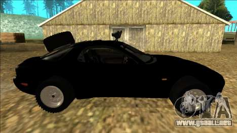 Mazda RX-7 Rusty Rebel para visión interna GTA San Andreas